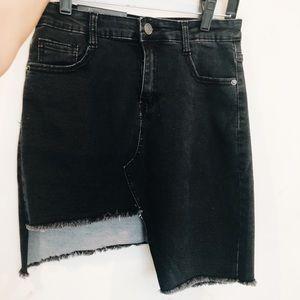 Selling Nasty Gal black ripped slit skirt